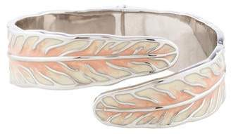 Nina Ricci Enamel Feather Cuff