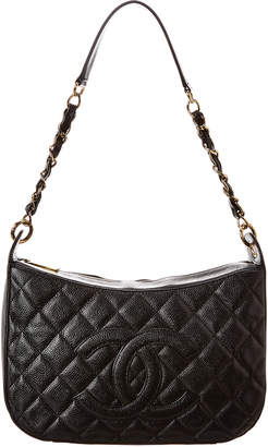 Chanel Black Caviar Leather Timeless Cc Shoulder Bag