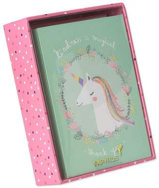 Papyrus MAGICAL UNICORN THANK YOU BOXED NOTE CARDS SET OF 14