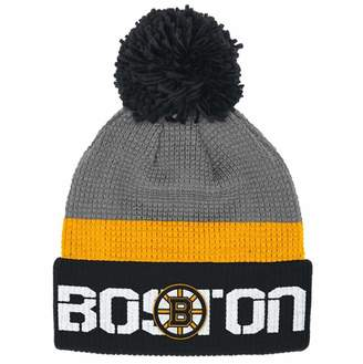 Reebok Boston Bruins Cuffed Pom Knit Toque