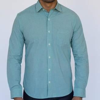Blade + Blue Green, Blue & White Micro Check Shirt - Matts
