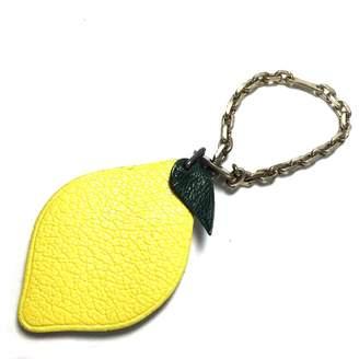 Hermes Leather bag charm