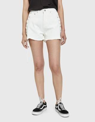 Farrow Himari Lace-Up Denim Shorts