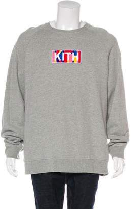 KITH NYC 2018 Geo Color Terry Appliqé Logo Crew neck