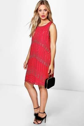 boohoo Plus Sequin Shift Dress