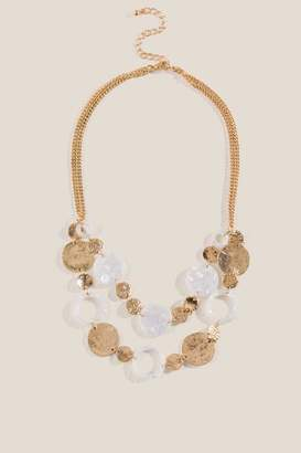 francesca's Dani Linked-Circle Necklace - Ivory