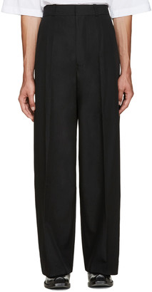 Vetements Black Oversized Suit Trousers $1,265 thestylecure.com