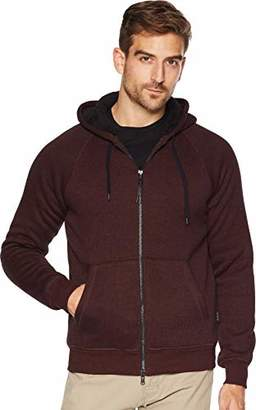 John Varvatos Men's Sherpa Lined Full Zip Hood
