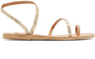 Ancient Greek Sandals Apli Eleftheria sequinned leather sandals