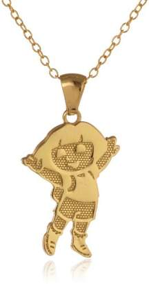 """Nickelodeon Over Sterling Silver Dora Pendant Necklace with 18"""" Chain"""