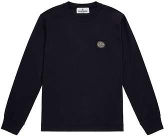 Stone Island Junior Long Sleeve Badge T-Shirt