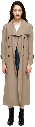 Mackage ENRIKA Lightweight maxi-length belted rain trench coat