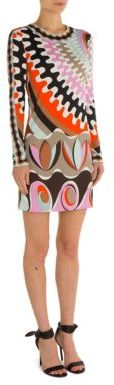 Emilio Pucci Emilio Pucci Printed Silk-Blend Dress