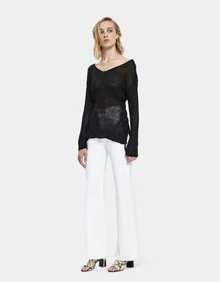 Which We Want Gretta Side Lace-Up Sweater