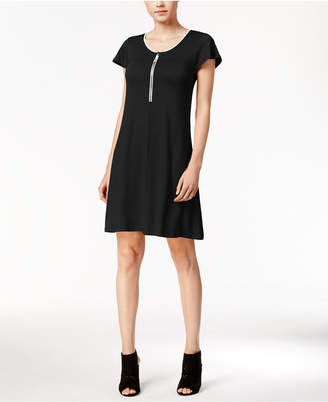 kensie Zip-Detail T-Shirt Dress $69 thestylecure.com