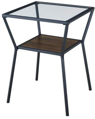 Walker Edison 18 Modern Metal & Glass Side Table