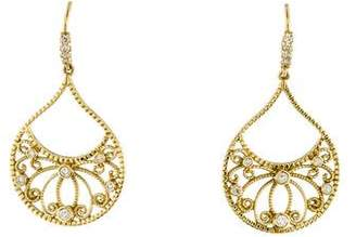 Penny Preville 18K Diamond Scroll Earrings