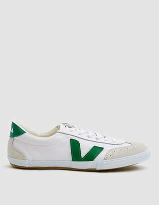 Veja Volley Canvas Sneaker in White Emerald