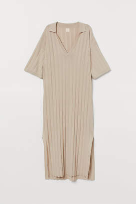 H&M Fine-knit Dress - Beige