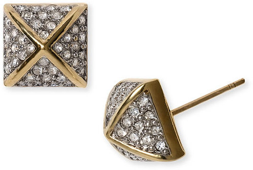Juicy Couture Pavé Pyramid Stud Earrings