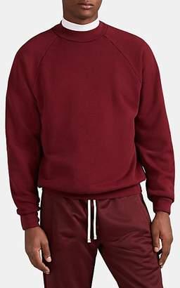 Les Tien Men's Cotton Mock-Turtleneck Sweatshirt - Md. Red
