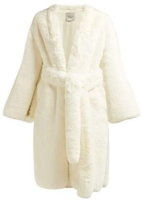 A.W.A.K.E. Mode A.w.a.k.e. Mode - Belted Faux Fur Coat - Womens - White