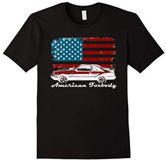 American Foxbody Muscle Car 5.0L Car Enthusiast Flag Shirt
