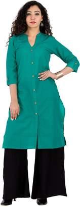 BrightJet Cotton Kurti & Back Paazzo Set For Women