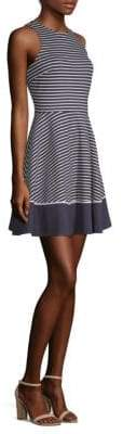 Kate Spade Stripe Ponte Fit-&-Flare Dress