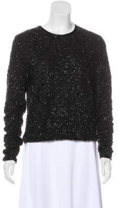 Lauren Ralph Lauren Embellished Long Sleeve Top