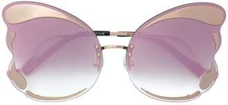 Linda Farrow Gallery Matthew Williamson x Linda Farrow butterfly sunglasses