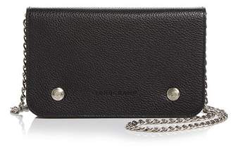 Longchamp Le Foulonne Pebbled Leather Chain Wallet