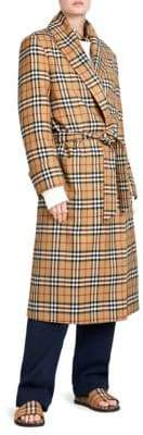 Burberry Vintage Check Robe Coat