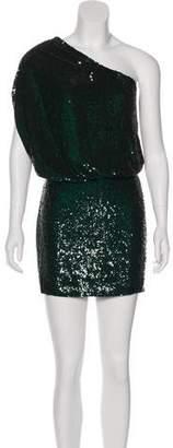 Haute Hippie One-Shoulder Sequined Dresss