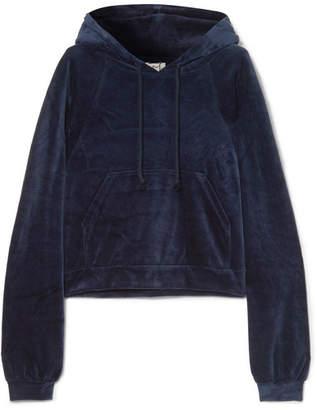 Base Range Baserange - Ubera Organic Cotton-velour Hoodie - Midnight blue