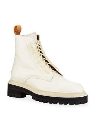 Proenza Schouler Leather Lace-Up Combat Boots