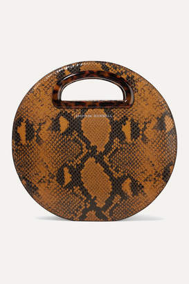 Loeffler Randall Indy Snake-effect Leather Tote - Camel