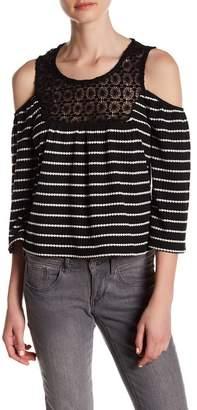Romeo & Juliet Couture Cold Shoulder Crochet Neckline Blouse