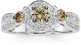 LeVian CORP LIMITED QUANTITIES Le Vian Grand Sample Sale Chocolate Diamonds & Vanilla Diamonds Ring set in 14K Vanilla Gold