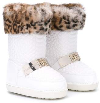 Roberto Cavalli Junior perforated snow boots