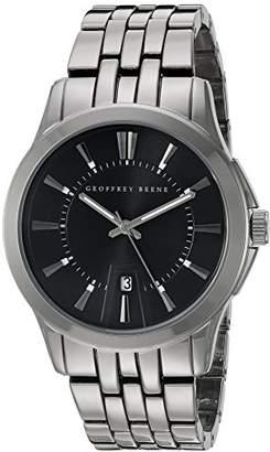 Geoffrey Beene Men's GB8048GDBK Analog Display Japanese Quartz Gold Watch