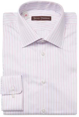Hickey Freeman Men's Stripes Classic Fit Dress Shirt