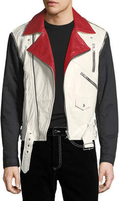 Givenchy Detachable-Sleeve Leather Moto Jacket