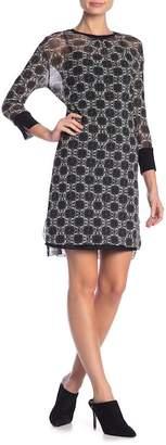 Petit Pois Patterned 3/4 Sleeve Dress