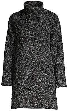 Eileen Fisher Women's Alpaca-Blend High Collar Coat