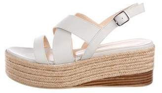 Fabiana Filippi Leather Flatform Espadrilles