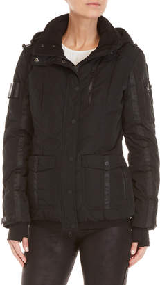 Blanc Noir 2 Face Hooded Down Coat