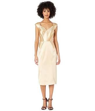 Zac Posen Champagne Satin Dress