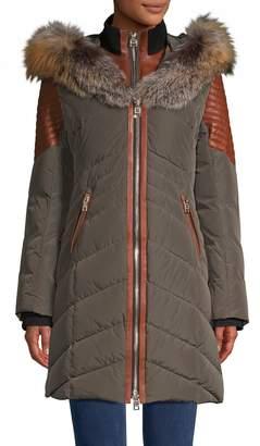 Nicole Benisti Cortina Fox Fur-Trimmed Down Jacket