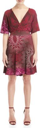 Desigual Surplice Printed Dress